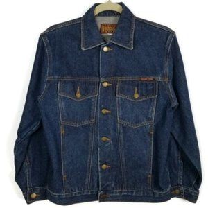 Lucky Star Vintage Dark Wash Denim Jacket Small